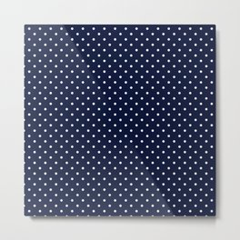 Domino dots indigo and white Metal Print