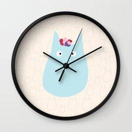 My Mini Chibi Ghibli floral Art Print Wall Clock