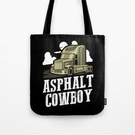 Asphalt Cowboy | Trucker Tote Bag
