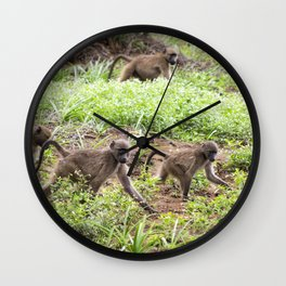 monkey town Wall Clock