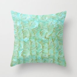 Sea Blue Roses Throw Pillow