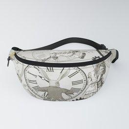 Wonderland Time - Vintage Black & White Fanny Pack