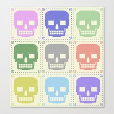quilt of grrr (born to die). Canvas Print