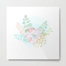 Paint splatter flower Metal Print