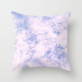 Pink and blue abstract pattern Throw Pillow