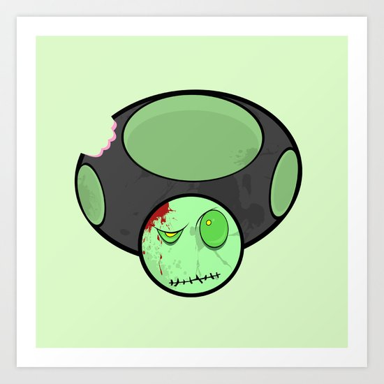 Zombie Toad Art Print