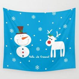 Snow men Wall Tapestry