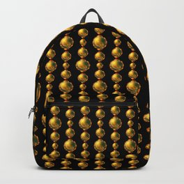 Bead Pattern, Gold & Black Backpack