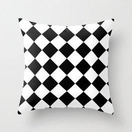 Diamond Black & White Throw Pillow