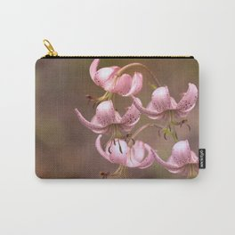 Pink Nostalgic Flowers #decor #society6 Carry-All Pouch