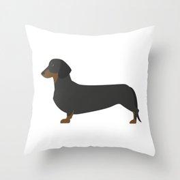 Dacshund Cartoon Throw Pillow