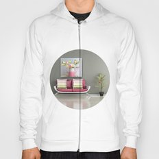 Coffee, Tea or Flowers Vignette Hoody