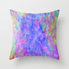Blue Places Throw Pillow