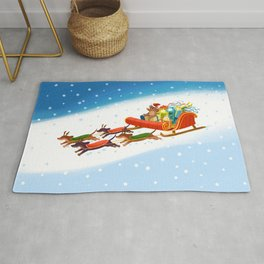 Dachshund open sleigh Rug