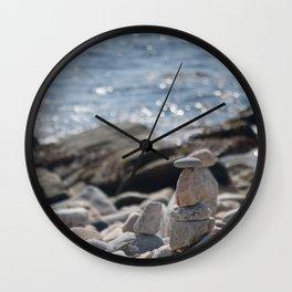 Balancing Serenity Rocks Wall Clock