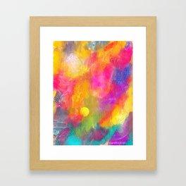 Orange Blizz Framed Art Print