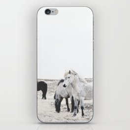 WILD AND FREE  1 - HORSES OF ICELAND iPhone Skin