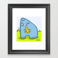 A cheese Monster Framed Art Print