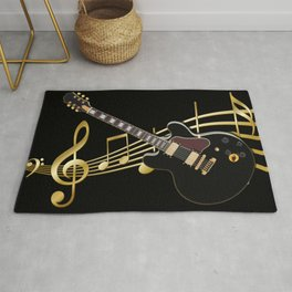 Guitar Music Rug