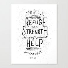 14/52: Psalm 46:1  Canvas Print