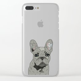 Frenchie Bulldog Puppy Clear iPhone Case