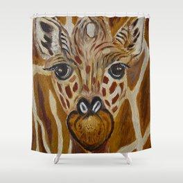 Baby Giraffe Art, Kids Room Bathroom Art, Zoo Animals, Nursery Room Shower Curtain