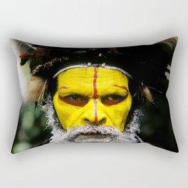 Papua New Guinea: Huli Wigman Rectangular Pillow