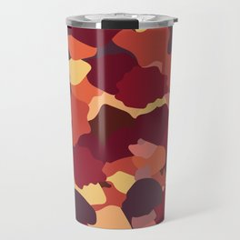 Camouflage in Fall Travel Mug