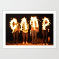 camp Art Prints featuring CAMP by dreabradley