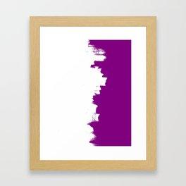 Purple imbalance Framed Art Print
