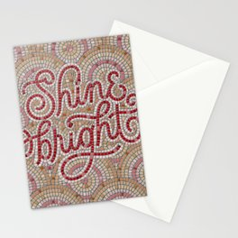 Shine Bright Fauxsaic  Stationery Cards