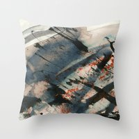 wave Throw Pillows featuring Wave  by Peter Coleman