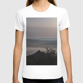 Foggy Summer Morning in France T-shirt