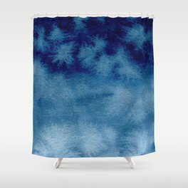 Blue Watercolor Wash Shower Curtain