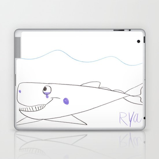 Sad Whale Laptop & iPad Skin