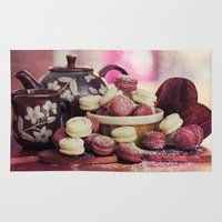 macaroon Area & Throw Rugs featuring Teatime Treats by micklyn