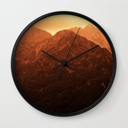 Evening in the mountains Wall Clock