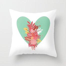 Feelings (Light Green) Throw Pillow