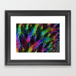 Rainbow Leaves Framed Art Print