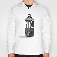nyc Hoodies featuring NYC 1972 by Farnell