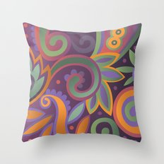 Summer leaves, heavy scented Throw Pillow