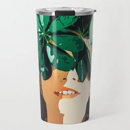 Blinded By Leaves #painting #nature Travel Mug
