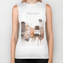 Brown Albuquerque skyline design Biker Tank