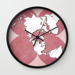 planisphere red mood Wall Clock