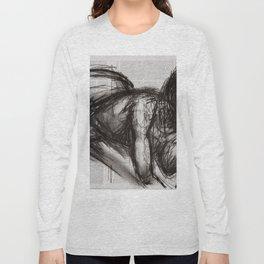 Nevertheless (Doch) - Charcoal on Newspaper Figure Drawing Long Sleeve T-shirt