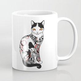 Cat in battling dragon love mates tattoo Coffee Mug