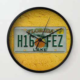 Lake County Florida License Plate Auto Tag Orange Car Wall Clock