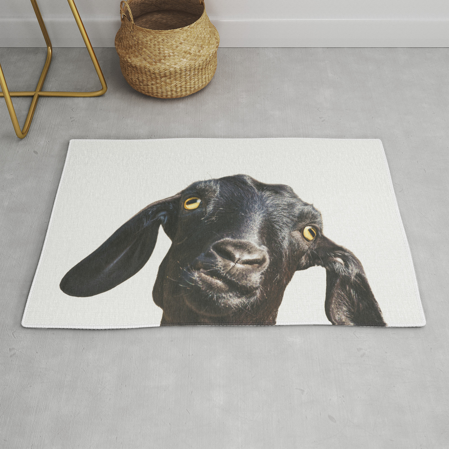 Billy Goat Rug By Theark Society6