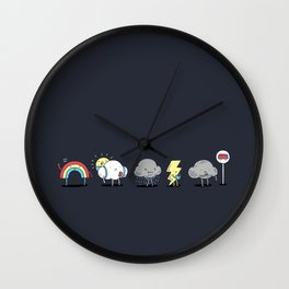 There's always rainbow after the rain Wall Clock