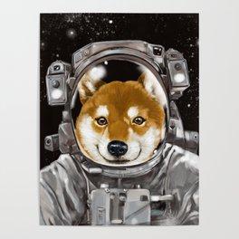 Astronaut Shiba Inu Poster